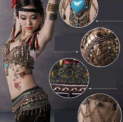 025 Tribal Vintage Bauchtanz Kostüm Fasching Karneval Belly Dance Costume Ethnic