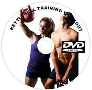 KETTLEBELL FITNESS WORKOUT WOMEN DVD EXERCISES WEIGHT FAT BURNER CARDIO ABS 058