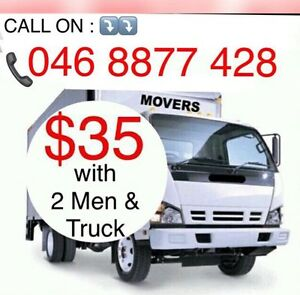 $35/ONLY with 2 MEN & TRUCK CHEAPEST MOVERS Liverpool Liverpool Area Preview