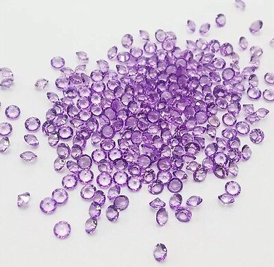 1000PC Purple Crystal Resin Birthstones Floating Charm Craft Uk Seller
