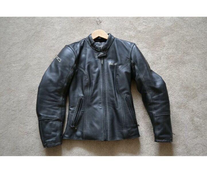 MaC Adam Women's Vintage Soft Real Leather Biker Jacket Black (Size: EUR 38 / UK 6) for sale  Kingston, Teddington
