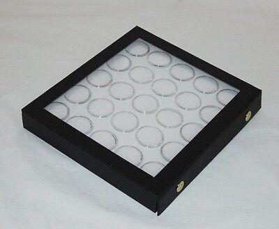 Gem Storage Attached Top Case 25 Jars White Foam