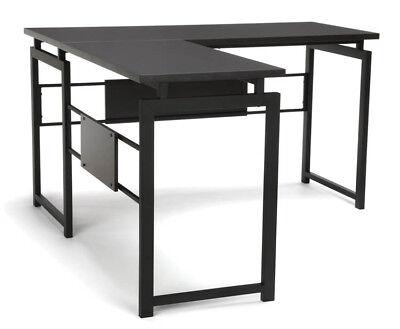 Office Furniture Essential Series Modern Design L-Shaped Desk With Metal Leg - Modern Design Office Furniture