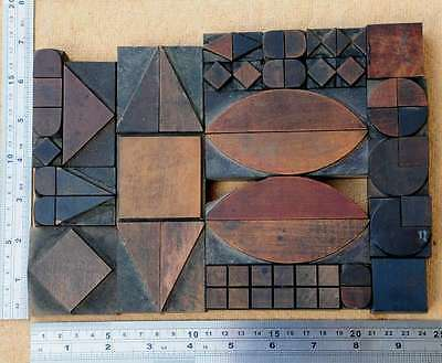 Letterpress Wood Printing Blocks Ornaments Decorative Borders Vintage Geometric