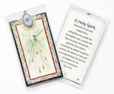 HOLY SPIRIT PRAYER CARD & Colour Medal