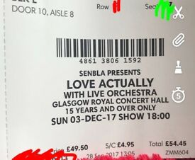 Love Actually at concert hall tickets