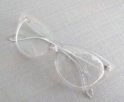 Gafas de Sol Vintage Retro Cristal trasparente Mujer Ojo de Gato