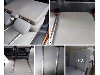 VW T5 folding double seats on quick release rails