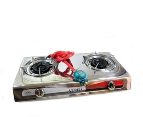 Portable Propane Double Burner Camping Gas Stove ...
