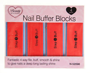 4 x 4 Way Nail File Buffer Block - Shine Sanding Polish Blocks