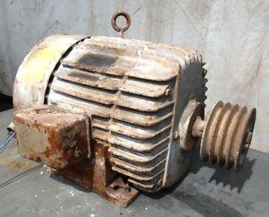 General Electric Motor 7 5 Hp Model No 5k4284b42 Volts 208