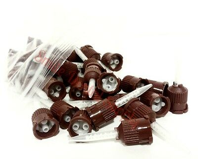 20 Pcs Dental Brown Temporary Cement Mixing Tips. 11 Ratio. Tip Us Seller