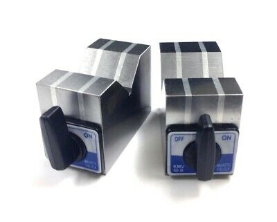 4 X 2 X 6 Aluminum Cast Magnetic V-block Set 3402-0902