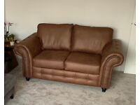 2 Seater Wayfair Tan Chesterfield Style Sofa (6 months old) £430 new