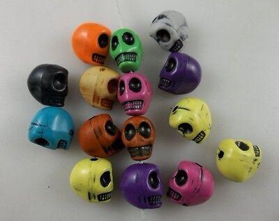 50 pcs mix colour skeleton Charm Spacer beads 10mm