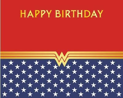 7x5FT Wonder Woman Super Hero kids happy Birthday  backdrops party Background](Super Hero Background)