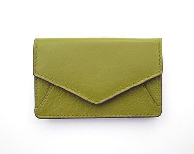 ILI Leather Envelope Business Card or Credit Card Case Holder Moss Green ~ New