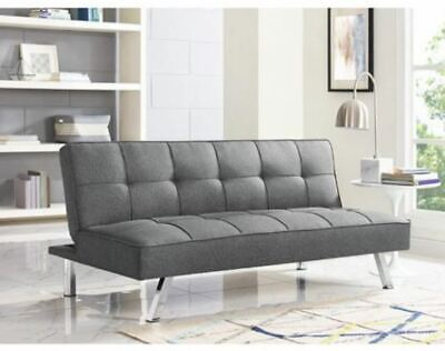 Convertible Sofa Futon Lounger Couch Bed Sleeper Guest Spare Office Dorm Seating