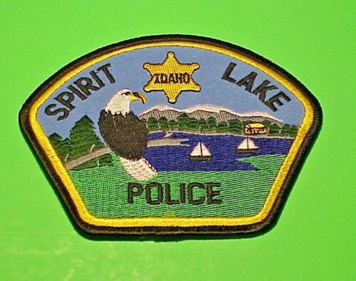 "SPIRIT LAKE  IDAHO  ID  3 1/2 x 4 1/2""  POLICE PATCH  FREE SHIPPING!!!"