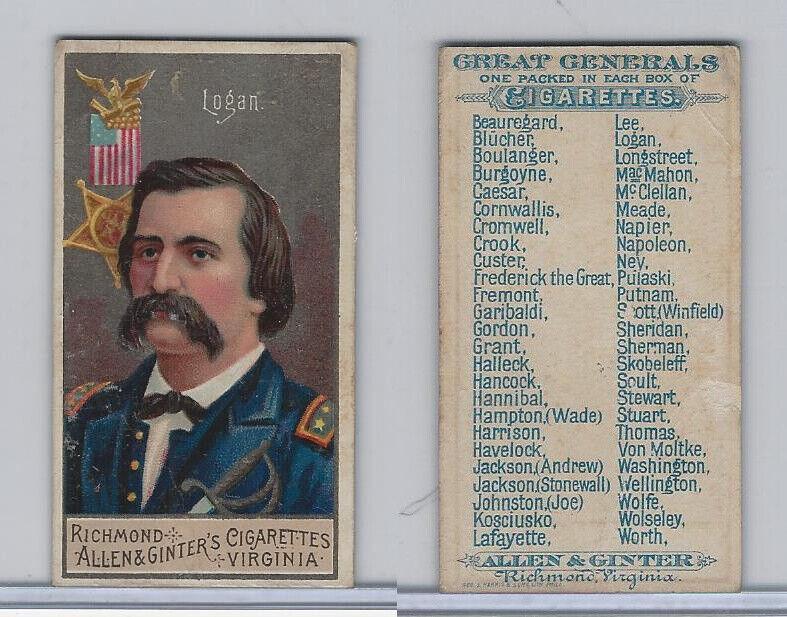 N15 Allen & Ginter, Great Generals, 1886, Logan