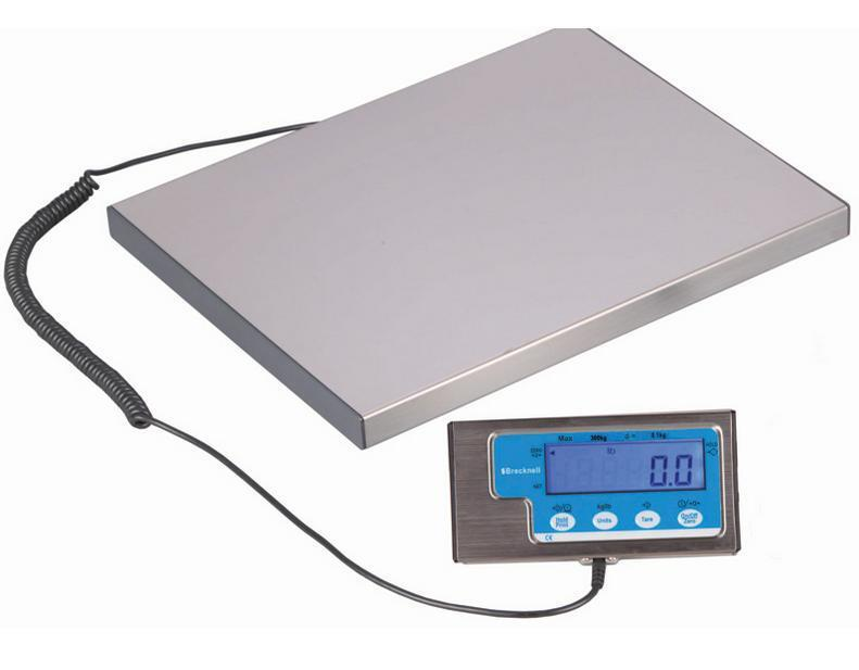 Original Brecknell LPS400 Bench Parcel Scale 400lb x 0.2lb,Stainless,RS 232,NEW