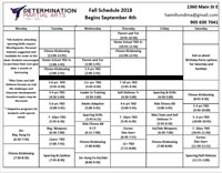 Daytime Martial Arts Classes Available September 2018!