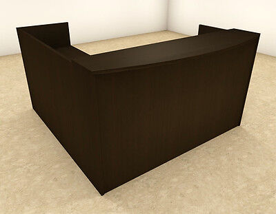 3pc L Shaped Modern Office Reception Desk Ot-sul-r8