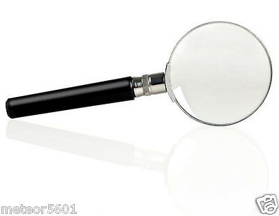1pc 10X Magnification Handheld Magnifier Magnifying Glass Handle Low Vision Aid