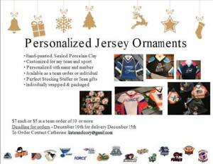 Jersey ornaments - Personalized