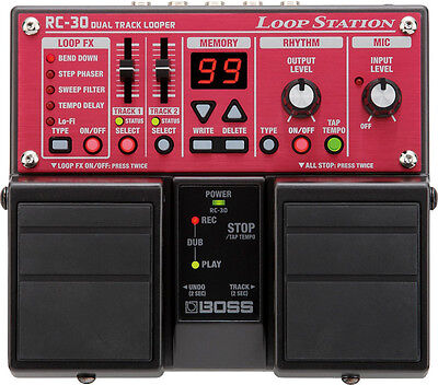 Boss RC-30 Twin Dual Track Looper Loop Station Guitar Effects Pedal RC30 (Boss Rc 30 Dual Track Looper Loop Station)