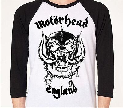 MOTORHEAD med BASEBALL JERSEY rock metal punk guitar marshall 3/4 sleeve jersey