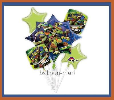 5 BALLOONS TEENAGE MUTANT NINJA TURTLES tmnt PARTY BIRTHDAY decoration supplies on Rummage