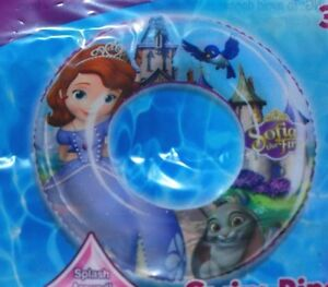 DISNEY-SOFIA-THE-FIRST-SWIM-RING-POOL-BEACH-NIP-KIDS-FUN-GIFT-INFLATES-TOY-CALIF