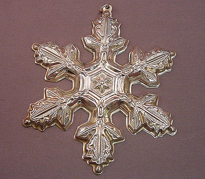 1997 GORHAM SNOWFLAKE STERLING CHRISTMAS ORNAMENT(S)