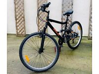 INDUR FULL SUSPENSION MENS MOUNTAIN BIKE*18 GEARS*LIKE BRAND NEW*RIDES WELL*GOOD CONDITION*MUST SEE