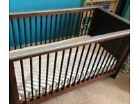 BABY COT & MATTRESS IN GOOD CONDITION