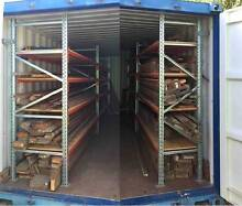 Qld Maple Timber in Shipping Container with Racking South Mackay Mackay City Preview