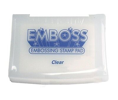 Tsukineko Embossing Powder - Clear Embossing Emboss Stamp Pad Tsukineko Raised Slow Drying Acid Free Craft