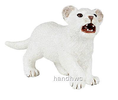 Papo 50076 White Lion Cub  Model Wild Animal Figurine Toy Replica Gift - NIP