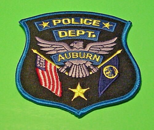 "AUBURN  NEBRASKA  NE   POLICE PATCH  4""  FREE SHIPPING!!!"