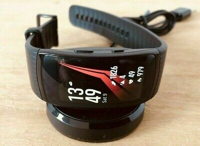 Samsung - Gear Fit2 Pro Fitness Watch SM-R365 (Small) Smartwatch - Black