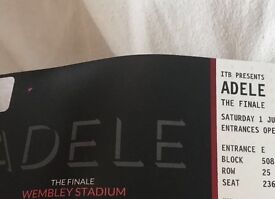 2 x ADELE seated tickets. WEMBLEY. Saturday 1st July.