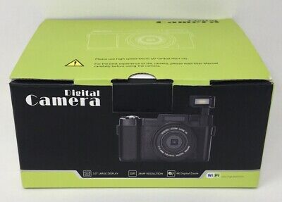 Digital Camera Vlogging 24MP Ultra HD 2.7K WiFi YouTube Camera (B Mi)