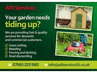 Grass cutting, Fencing, Decking and Driveways