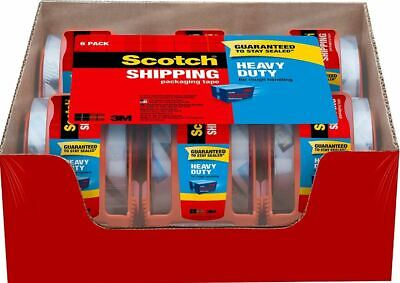 Scotch Moving Storage Packing Tape-6 Rolls Shipping Packaging Heavy Duty New