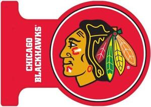 Chicago Blackhawks Double Sided Metal Flange Sign (New) Calgary Alberta Preview