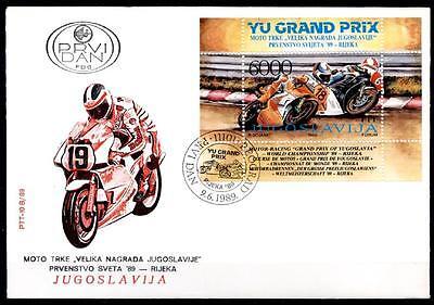 Motorrad-Weltmeisterschaftsläufe, Rijeka. FDC. Jugoslawien 1989