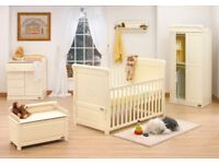 Tutti Bambini Cot Bed + Cot Top Changer + Bedset + Bumper + Cot Organiser & More