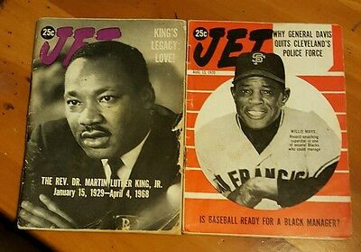 VINTAGE JET MAGAZINE MARTIN  LUTHER KING AND WILLIE MAYS