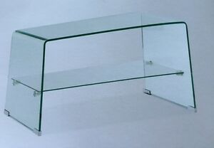 Porta tv cristallo vetro mensola plasma televisore - Porta televisore in vetro ...